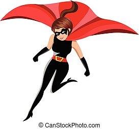 行動, 女, superhero, 隔離された