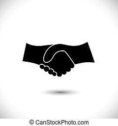 表しなさい, 概念, 振動, 協力, &, -, ジェスチャー, また, 統一, 黒, 新しい, 友情, ビジネス 実例, 手, white., アイコン, グラフィック, これ, 挨拶, 信頼, ∥など∥, ベクトル, 缶