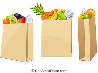 袋, 食料雑貨 ショッピング