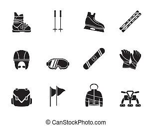 装置, snowboard, スキー, アイコン