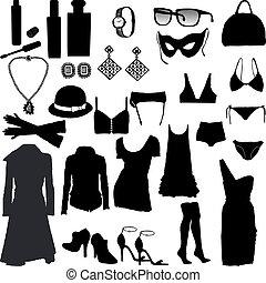 装飾用である, 女らしい, 衣類, それ
