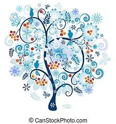 装飾用である, 木の 冬