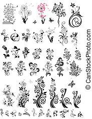 装飾用である, 花の要素, デザイン, (