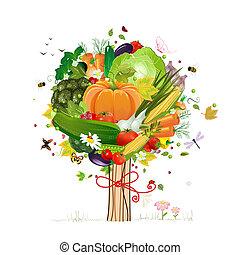 装飾用である, 野菜, 木