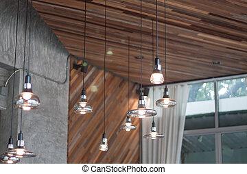 装飾用である, 電球, スタイル, 現代, ライト