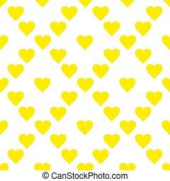 装飾的な 要素, 芸術, illustration., パターン, 仕事, seamless, 黄色, 手, ベクトル, hearts., 引かれる, 創造的, design.