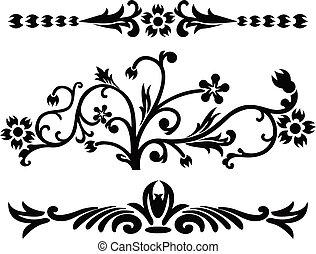 装飾, イラスト, ベクトル, スクロール, cartouche