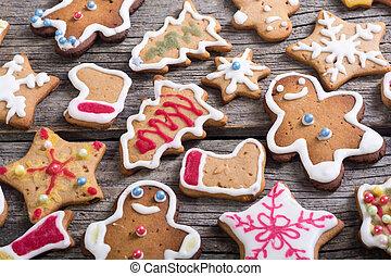 装飾, クッキー, クリスマス