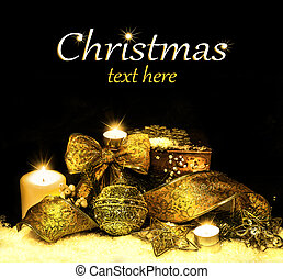 装飾, クリスマス, 背景