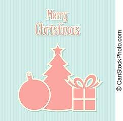 装飾, スタイル, レトロ, クリスマス