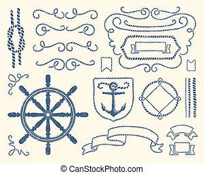 装飾, セット, 海事