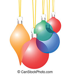 装飾, セット, 装飾, クリスマス, 半透明