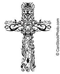 装飾, パターン, キリスト教徒, デザイン, 交差点