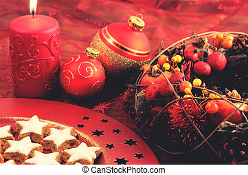 装飾, 伝統的である, クッキー, クリスマス