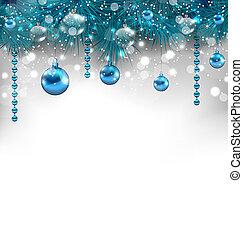 装飾, 伝統的である, 白熱, クリスマス, 背景
