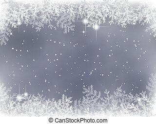 装飾, 冬, 背景, クリスマス