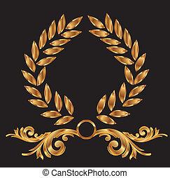 装飾, 月桂樹の冠, 金