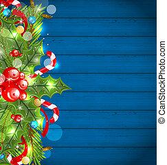 装飾, 白熱, 休日, クリスマス, 背景