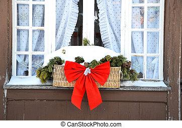 装飾, 窓, クリスマス