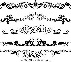 装飾, 2, 横, セット