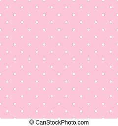 装飾, lol, 点, バックグラウンド。, わずかしか, pattern., style., ポルカ, 背景, 女の子, 点, 人形, ピンク, パーティー, ベクトル, 背景, 白, 最新流行である, seamless