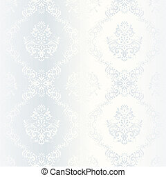 複雑, パターン, 白い朱子織, 結婚式