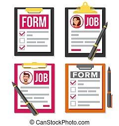 要求, セット, オフィス, clipboard., 上, 雇用, list., 人間, ビュー。, 保険, 事故, 形態, 試験, vector., tasks., 資源, 平ら, to-do, 完了しなさい, ビジネス, 時間, employees., イラスト, 漫画, チェックリスト, paperwork., pen., concept., 調査, document.