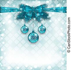 要素, クリスマス, 背景, 伝統的である, ライト