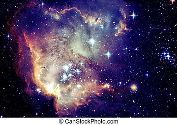 要素, 外の, 星雲, 供給される, これ, イメージ, space., nasa, 銀河