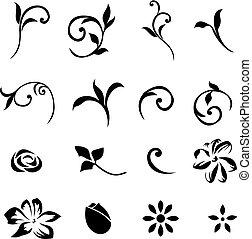 要素, 01, 花, デザインを設定しなさい
