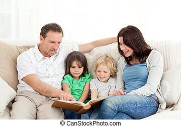 見る, 写真, 家族, 幸せ