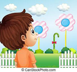 見る, lollipop, 子供