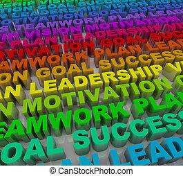 言葉, -, カラフルである, 成功, 原則