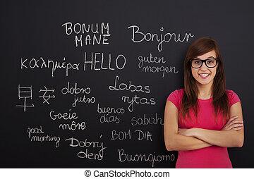言語, 勉強, 外国である
