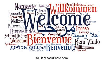 言語, 句, 別, 歓迎