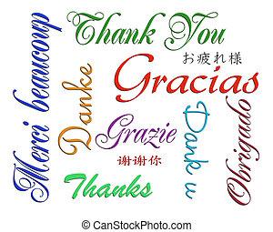 言語, 多数, あなた, 感謝しなさい, カード