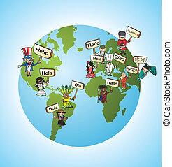 言語, 概念, 翻訳しなさい, 世界的である