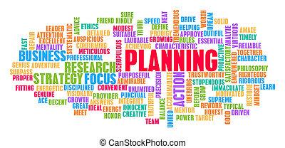計画, 概念, 単語, 雲