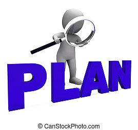 計画, 目的, 特徴, 計画, 計画, 組織化する, ショー