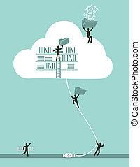 計算, 雲, 概念, ビジネス