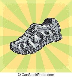 訓練の 靴, 背景