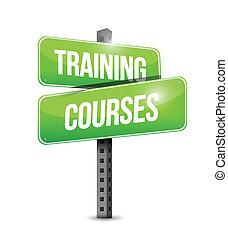 訓練, イラスト, 印, コース, デザイン, 道