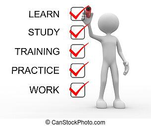 訓練, 学びなさい, 仕事, 練習, 勉強しなさい