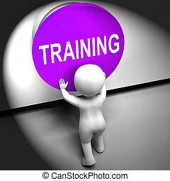 訓練, 手段, 押された, 教育, 誘導, ∥あるいは∥, セミナー