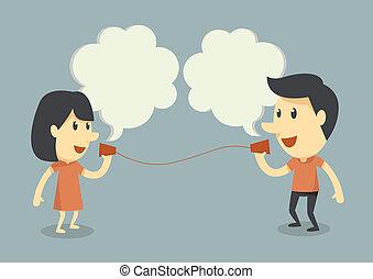 話し, 電話, カップ