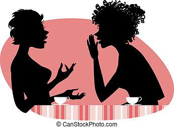 話し, 2人の女性たち