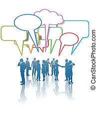 話, 人々ビジネス, ネットワーク, コミュニケーション, 媒体, 色
