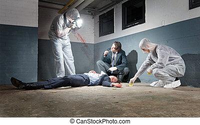 調査, 現場, 犯罪
