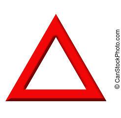 警告 三角形, 道 印