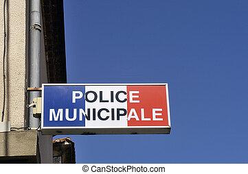 警察, 市の, オフィス